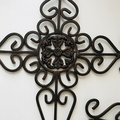 Wrought Iron Wall Art Garden French Country Boho home love Accent Decorative