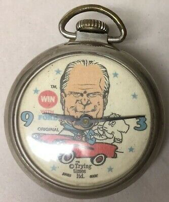 Vintage Win With Ford Gerald Ford In A For Car Pocket Watch 1974