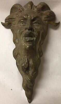 Antique Bronze Decoration Part Piece Furniture Architectural Salvage Devil Head