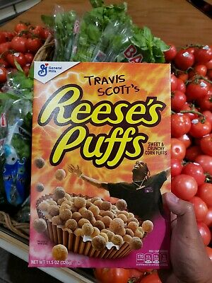 Travis Scott x Reese's Puffs cereal SOLD OUT - Look Mom I Can Fly Cactus Jack