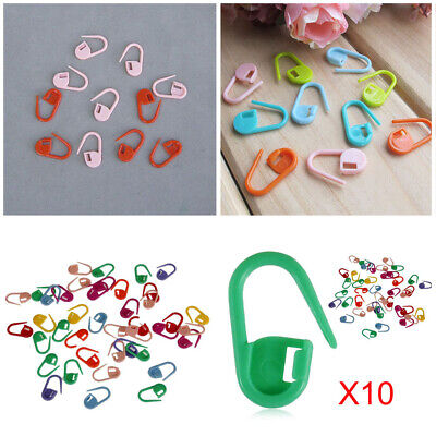 Knitting Crochet Locking Stitch Needle Clip Markers Holder Plastic Pins