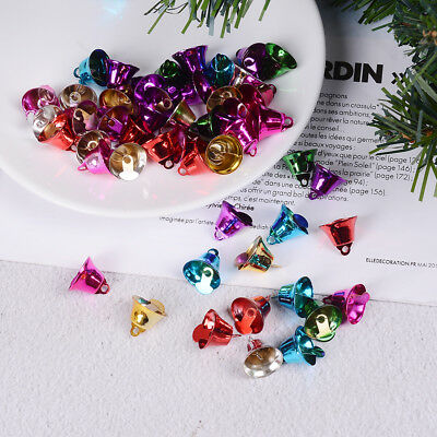 50 Mixed Color Christmas Jingle Bells Charms Pendants 16mm for Craft DIY EO