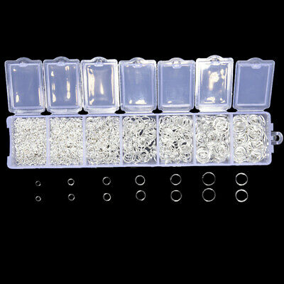 1500Pcs/Box Mixed Silver Open Split Jump Rings  Connector DIY Jewelry FindingsEO