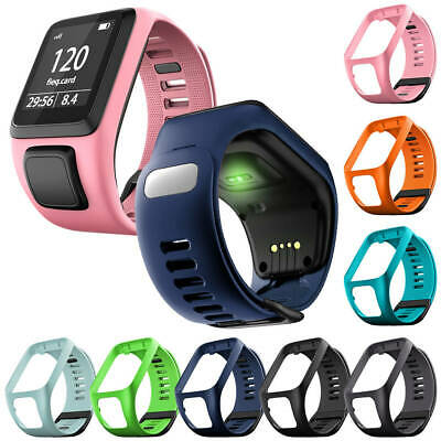 Silicone Replacement Watch Band Bracelet ForTomTom Runner 2 & 3/spark 3/Golfer2