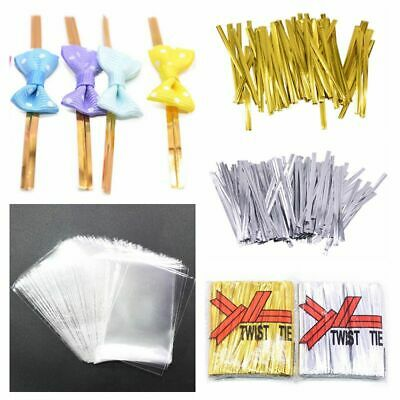 Metallic Candy Lollipop Baking Twist Wire Ties  For Candy  Cake Wedding Party  B