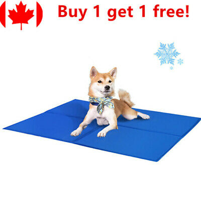 Pet Cooling Mat Pad Gel Cooler For Dog Crate Bed Comfort Chilly Beds, L