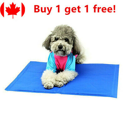 Pet Cooling Mat Pad Gel Cooler For Dog Crate Bed Comfort Chilly Beds, M
