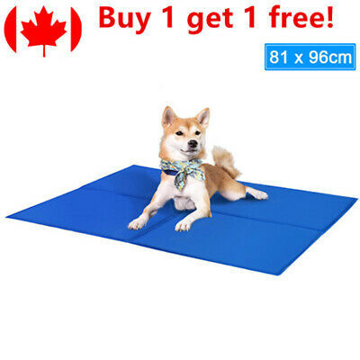 Pet Cooling Mat Pad Gel Cooler For Dog Crate Bed Comfort Chilly Beds, XL
