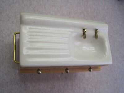 Dollhouse Miniature Vintage Victorian wash basin porcelain sink kitchen bath