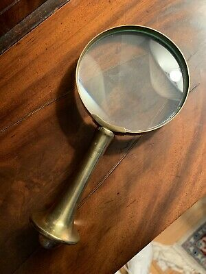 Early 1900s antique brass magnifying glass