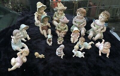 Instant Early to mid-20th Century Bisque Porcelain Piano Baby Collection -  17