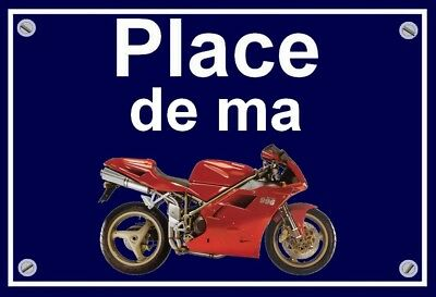 "plaque "" PLACE DE MA DUCATI 996   """