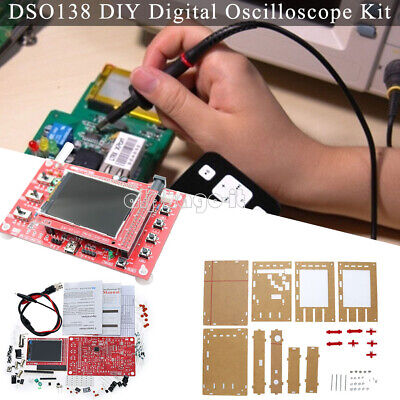 "DSO138 Dual Alligator Clip Digital Oscilloscope 2.4"" TFT+Probe Welded Assembled"