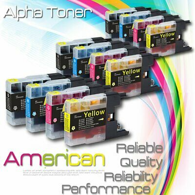 4pk LC75 LC-75 XL Black /& Color Printer Ink Cartridge for Brother MFC-J835DW