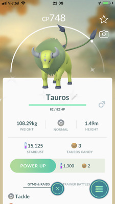 Trade Shiny Tauros pokemon go
