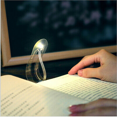 Reading book bookmark reading lamp creative portable small night lighEO