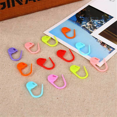 100 pcs/pack Knitting Craft Crochet Locking Stitch Needle Clip Markers Holder EO