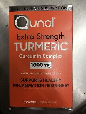 Turmeric Curcumin 1000 mg Qunol Ultra High Absorption Max Strength 120 Softgels