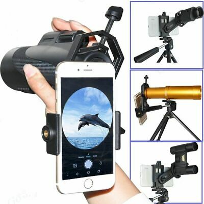 Metal Mount Black Spotting Scope Binocular Cell Phone Holder Telescope Adapter