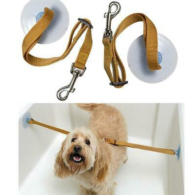 2PCS Pet Dog Cats Bathing Tub Restraint Leash Sucker Strap Keeps Dog in Bathtub
