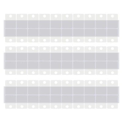1.5x1 Inch Clear Pegboard and Slatwall Hook Tabs Hanging Tags 300 Pieces