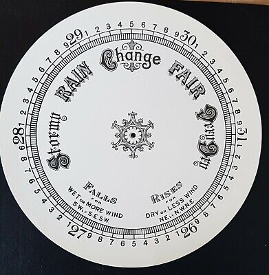 """8""""Barometer Replacement Dial Face Aneroid"""