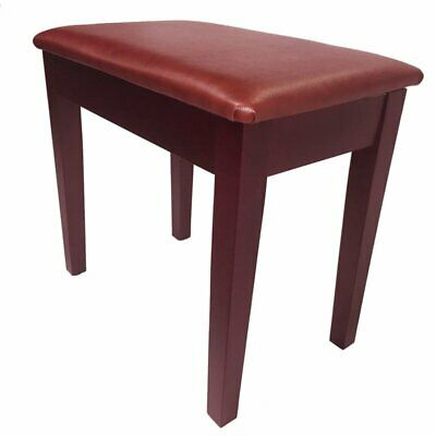 "Piano Stool with Book Storage Satin Mahogany, ""Prelude"""