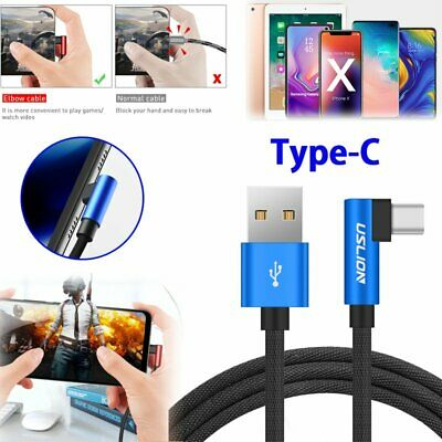 Type-C 90 Degree Right Angle USB C 3.1 Fast Data Sync Charging Charger Cable Hot