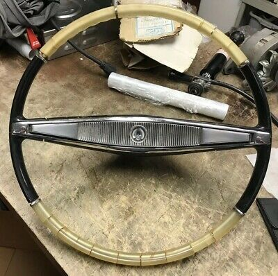 Vintage Chrysler Imperial STEERING WHEEL Original Hub Trim
