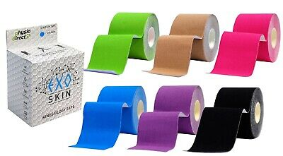 3 Rolls 5cm x 5m Kinesiology Tape KT Muscle Strain Injury Support Physio Sports