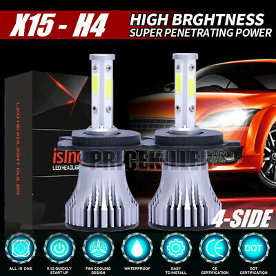 2019 New 4-Side H4 LED Headlight Car Bulbs 300W 36000LM High And Low Beam Bright
