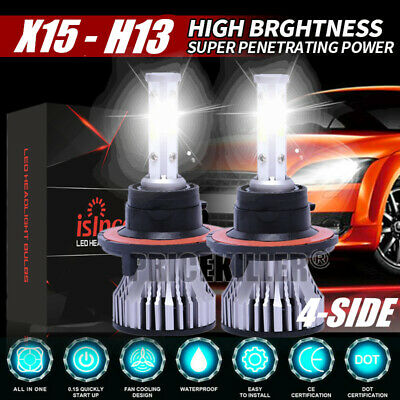 2019 New 4-Side H13 LED Headlight Car Bulb 300W 36000LM High And Low Beam Bright