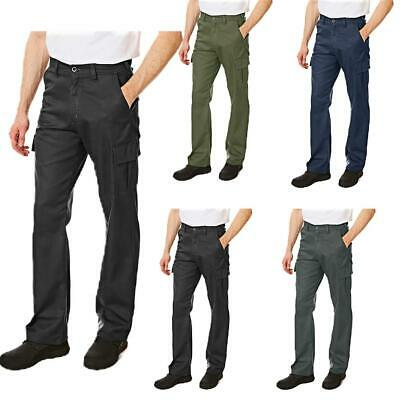 Lee Cooper Workwear Mens Multi Pocket Cargo Combat Work Classic Trousers Bottoms