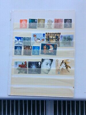 GB QE11 1st & 2nd CLASS STAMPS ALL DIFFERENT UNFRANKED NO GUM OFF PAPER  FV £!2+