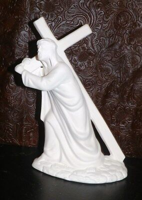 Jesus Carrying the Wooden Cross CHRIST  *Ceramic Bisque Ready to Paint