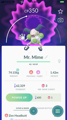 Trade Shiny mr.mime pokemon go