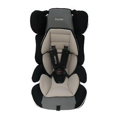 Parker Grey Themed Child Baby Car Seat Ages 4-12 Safety Booster Seat Group 1/2/3