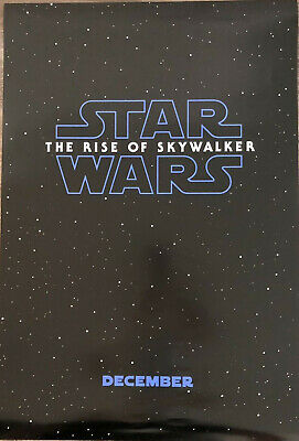 """STAR WARS RISE OF SKYWALKER Official Movie Teaser Poster 27"""" X 40"""" Two Sided"""