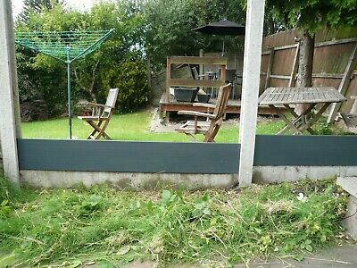 """GREY PVC Composite fence boards 6' x10"""" stackable see details for delivery cost"""
