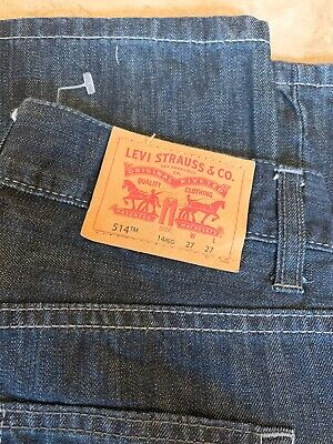 Levi Strauss 514 Slim Straight Red Tab Jean - W27 L27 (14 Reg) - Dark Blue