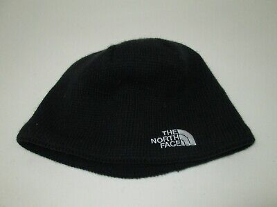 Unisex THE NORTH FACE Classic TNF Logo Knit Beanie HAT Solid Black O/S GOOD!