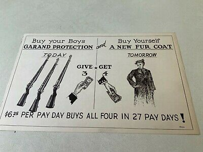 """Home Front War Bond Poster """"Buy Your Boys Garand (rifle) Protection"""""""
