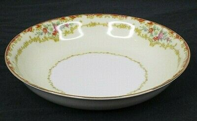 "Vintage Noritake China Japan 591 Dubarry Floral 1930s Bowl 7.25"" Diameter EUC"