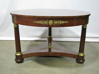 "High-End French Empire 100"" Mahogany Gueridon Center Table w/ Neoclassic Mounts"