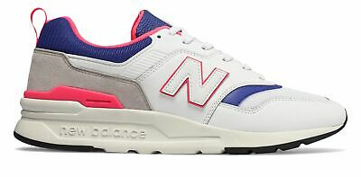 New Balance Men's 997 Shoes White with Blue