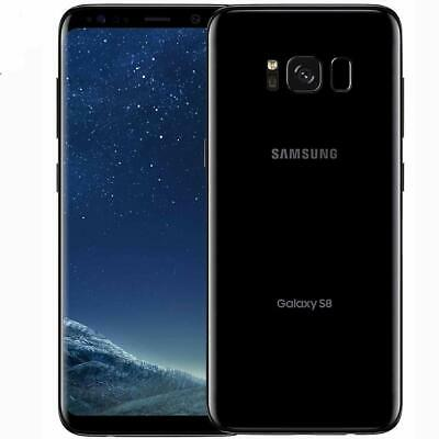 SAMSUNG GALAXY S8 64GB Android Mobile Phone Unlocked 4G SIM BLACK  Any Network