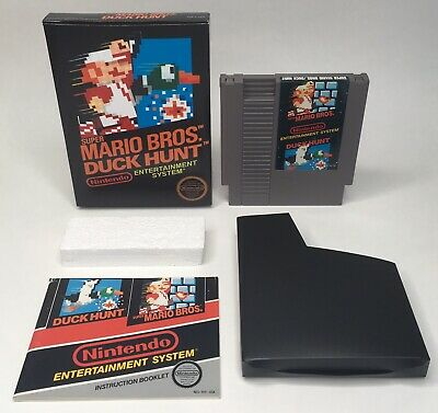NES Super Mario Bros. / Duck Hunt Complete in Custom Box CIB *Tested* *Cleaned*