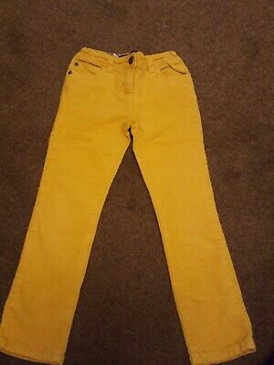 Girls mini Boden Cord jeggin style mustard yellow Trousers Age 7 Years
