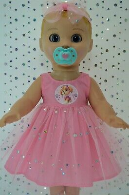 "Play n Wear Dolls Clothes For 17"" Luvabella Doll PINK SEQUIN DRESS~HEADBAND"