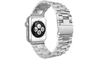 NEW Silver Stainless Steel Apple Watch Band